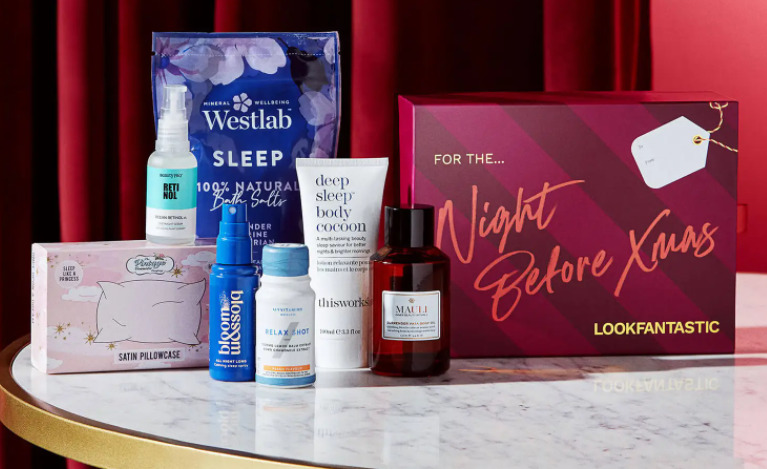 LOOKFANTASTIC Gift Guide - The Night Before Box 2021