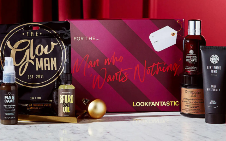 LOOKFANTASTIC Gift Guide - The Man Beauty Box 2021
